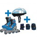 Kolečkové brusle Worker Tornado + helma + chrániče mordá