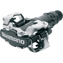 Pedály Shimano PD-M520 (černá, bílá, sříbrná)