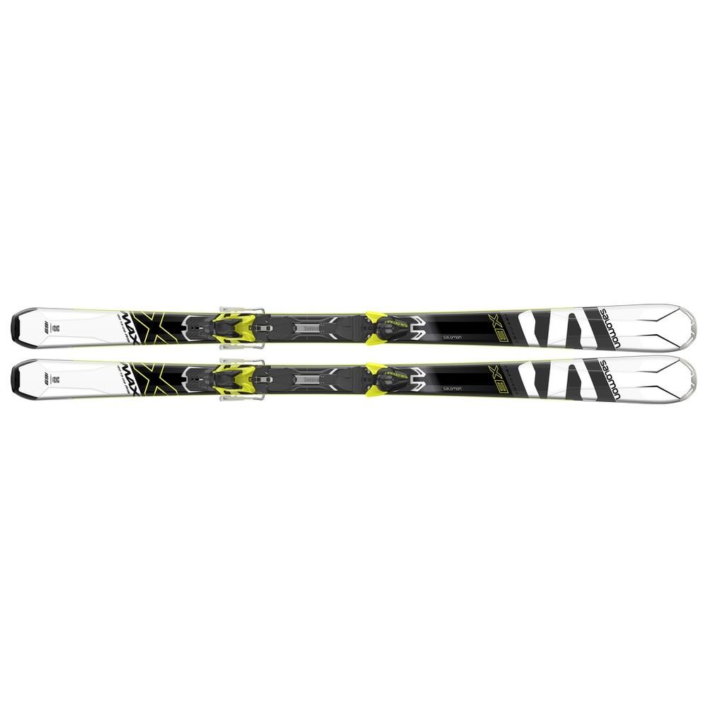 Salomon X-Max X8 white black yellow + vázání Mercury 11 17 18 ... c0be566155