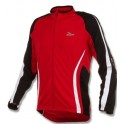 Rogelli Mura dres dlouhý rukáv red/black/white